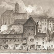Kirchturm von Maria am Gestade im Hintergrund, Quelle: http://data.onb.ac.at/rec/baa13171953