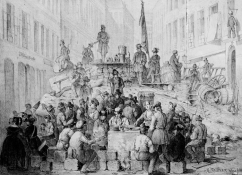 Barrikade in der Märzstraße 1848, Quelle: http://data.onb.ac.at/rec/baa9342266